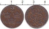 Изображение Монеты Швеция 2 эре 1939 Бронза XF Густав V.