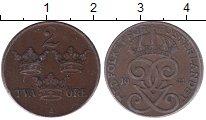 Изображение Монеты Швеция 2 эре 1941 Бронза XF Густав V.