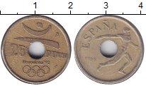 Изображение Монеты Испания 25 песет 1990 Латунь VF