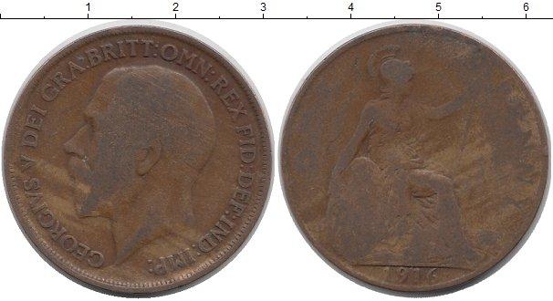 Картинка Дешевые монеты Великобритания 1/2 пенни Бронза 1916