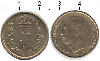 Изображение Барахолка Люксембург 5 франков 1987 сталь покрытая латунью XF