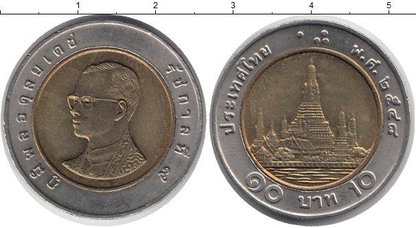 Картинка Дешевые монеты Таиланд 10 бат Биметалл 2002