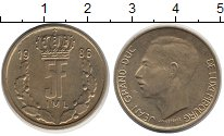 Изображение Дешевые монеты Люксембург 5 франков 1986 сталь покрытая латунью XF