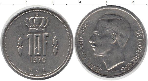 Картинка Барахолка Люксембург 10 франков Медно-никель 1976