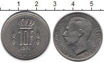 Изображение Дешевые монеты Люксембург 10 франков 1971 Медно-никель XF-