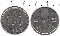 Изображение Барахолка Южная Корея 100 вон 2008 Медно-никель XF