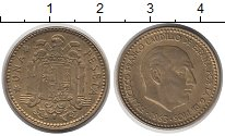 Изображение Дешевые монеты Испания 1 песета 1963 Латунь XF+