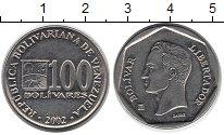 Изображение Барахолка Венесуэла 100 боливар 2002 Медно-никель XF