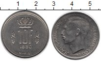 Изображение Дешевые монеты Люксембург 10 франков 1980 Медно-никель XF-