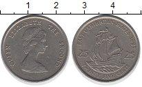 Изображение Барахолка Карибы 25 центов 1987 Медно-никель XF