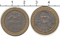 Изображение Дешевые монеты Чили 100 песо 2009 Биметалл XF
