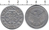 Изображение Дешевые монеты Индонезия 25 сен 1957 Алюминий VF