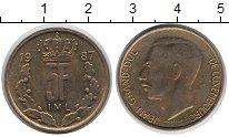 Изображение Дешевые монеты Люксембург 5 франков 1987 сталь покрытая латунью XF