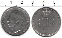 Изображение Дешевые монеты Люксембург 10 франков 1971 Медно-никель XF+