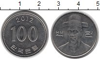 Изображение Барахолка Южная Корея 100 вон 2012 Медно-никель XF