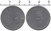 Изображение Дешевые монеты Индия 1 рупия 2011 Медно-никель VF-