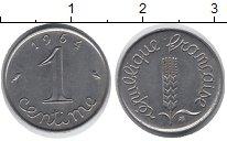 Изображение Дешевые монеты Франция 1 сантим 1964 Сталь XF