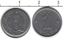Изображение Дешевые монеты Франция 1 сантим 1965 Сталь XF
