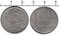 Изображение Барахолка Бразилия 20 сентаво 1967 Алюминий XF
