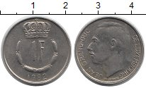 Изображение Дешевые монеты Люксембург 1 франк 1982 Медно-никель XF