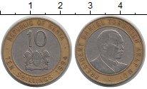 Изображение Барахолка Кения 10 шиллингов 1994 Биметалл XF-