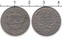 Изображение Дешевые монеты Польша 20 грош 1923 Медно-никель VF