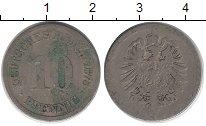 Изображение Дешевые монеты Германия 10 пфеннигов 1875 Медно-никель VF-