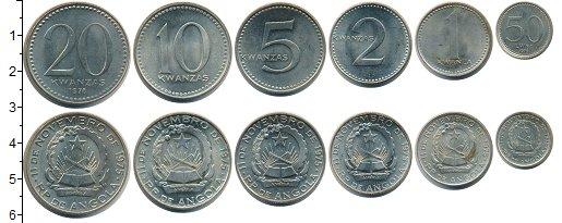 Изображение Наборы монет Ангола Ангола 1978 0 Медно-никель XF+ В наборе 6 монет ном