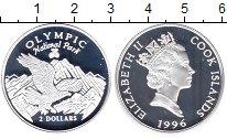 Изображение Монеты Острова Кука 2 доллара 1996 Серебро Proof