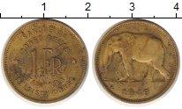 Изображение Монеты Бельгийское Конго 1 франк 1949 Латунь XF Слон.