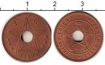 Изображение Монеты Бельгийское Конго 1 сантим 1919 Медь XF Адьберт I.  Звезда.
