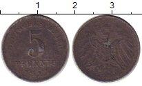 Изображение Монеты Германия 5 пфеннигов 1917 Железо XF-
