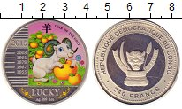 Изображение Монеты Конго 240 франков 2015 Серебро XF