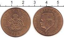 Изображение Монеты Монако 10 франков 1982 Медь XF Ренье III - Принц  М