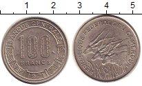 Изображение Монеты Камерун 100 франков 1971 Медно-никель XF Антилопы.