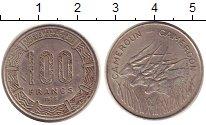 Изображение Монеты Камерун 100 франков 1975 Медно-никель XF Антилопы.