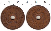 Изображение Монеты Великобритания Родезия 1 пенни 1956 Медь XF