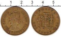 Изображение Монеты Ямайка 1 пенни 1965 Латунь XF