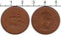 Изображение Монеты ЮАР 1/2 пенса 1953 Медь VF Елизавета II