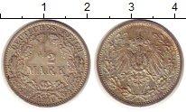 Изображение Монеты Германия 1/2 марки 1916 Серебро XF