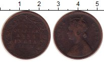 Изображение Монеты Индия 1/4 анны 1868 Медь VF