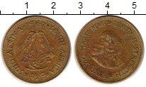 Изображение Монеты ЮАР 1/2 цента 1962 Латунь VF