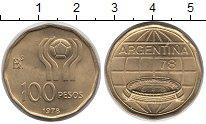 Изображение Монеты Аргентина 100 песо 1978 Латунь UNC