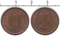 Изображение Монеты Маврикий 1 цент 1971 Медь XF