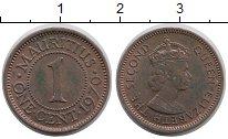 Изображение Монеты Маврикий 1 цент 1970 Медь XF