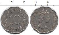 Изображение Монеты Маврикий 10 центов 1971 Медно-никель XF