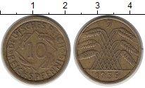 Изображение Монеты Веймарская республика 10 пфеннигов 1935 Латунь XF