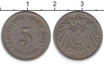 Изображение Монеты Германия 5 пфеннигов 1904 Медно-никель XF