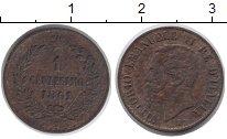 Изображение Монеты Италия 1 сентесим 1861 Медь VF