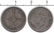 Изображение Монеты Великобритания Родезия 3 пенса 1949 Медно-никель XF